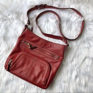 Tignanello Red Cross Body Handbag